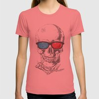 3Death Womens Fitted Tee Pomegranate SMALL