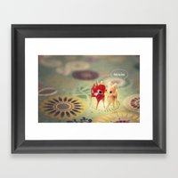hello my deer Framed Art Print