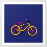 Happy Bike Art Print