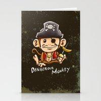 Dangerous Monkey! Stationery Cards