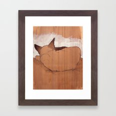 Mingau, my cat Framed Art Print