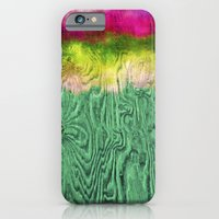 Green Apple Ombre on Wood iPhone 6 Slim Case