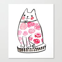 Flower Cat  Canvas Print