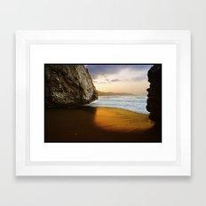 Golden Beach, Nerja, Spain Framed Art Print