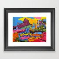 Ipanema Beach Framed Art Print