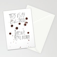 This is my Blood! Stationery Cards