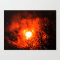 Burning Moon Canvas Print