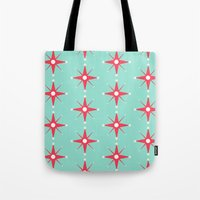 Retro Red Stars Tote Bag