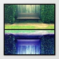 Park Benches Canvas Print