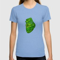 Landscape of My Heart (4 as 1) Womens Fitted Tee Tri-Blue SMALL