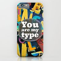 iPhone & iPod Case featuring You Are My Type! by Peter Gross