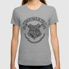 Hogwarts Womens Fitted Tee Athletic Grey SMALL
