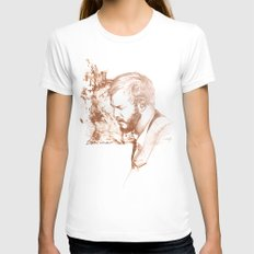 Bon Iver (Justin Vernon) Womens Fitted Tee White SMALL