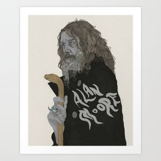 Alan Moore Art Print
