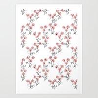 X Flowers Art Print