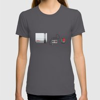 #38 Nintendo Entertainme… Womens Fitted Tee Asphalt SMALL