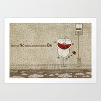How To Be Happy Art Print