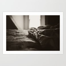The messy bed Art Print