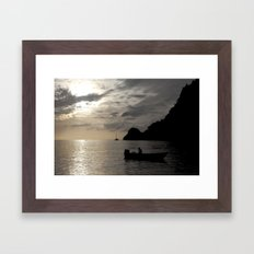 Caribbean fishing Framed Art Print
