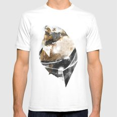 broken creature SMALL Mens Fitted Tee White
