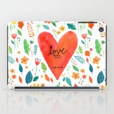 Love never fails iPad Case