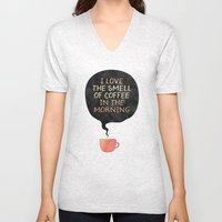 I love the smell of coffee in the morning Unisex V-Neck