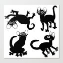 4cats Canvas Print