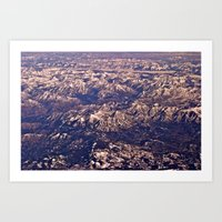 Airplane View Art Print