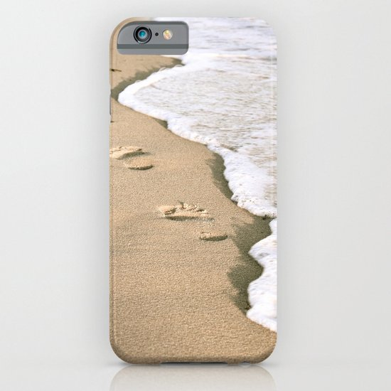 Footprints on the Beach iPhone & iPod Case