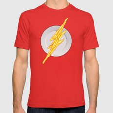 Flash Food Mens Fitted Tee Red SMALL
