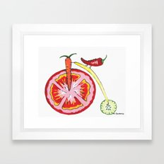 Veggie Bike Framed Art Print