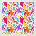 Cute colorful heart Canvas Print