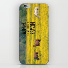 Wander Without Reason iPhone & iPod Skin