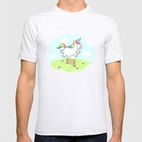 Unicorn Dream Mens Fitted Tee Ash Grey SMALL