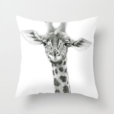 Young Giraffe  G2012-053 Throw Pillow