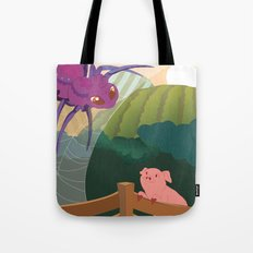The spider and the pig Tote Bag