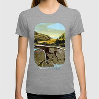 Down To The Sea Womens Fitted Tee Tri-Grey SMALL