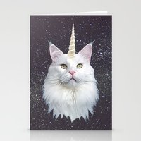 unicorn Stationery Cards featuring Unicorn Cat by Oh Monday