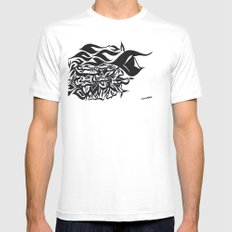 wave design 1.0 Mens Fitted Tee White SMALL