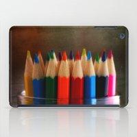 Rainbow Crayons iPad Case