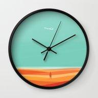 Where The Sea Meets The … Wall Clock