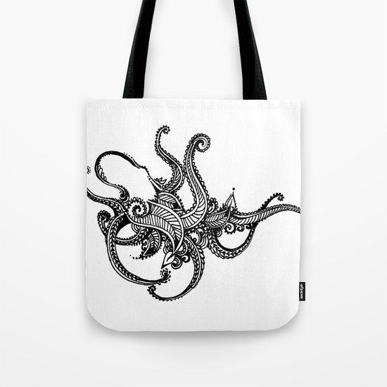 Henna Octopus  Tote Bag