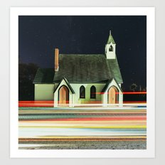 Passing by Religion Art Print