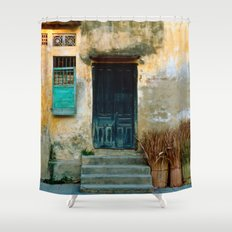 VIETNAMESE FACADE - HOI AN Shower Curtain