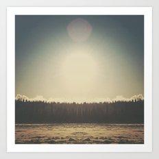 Frozen Reflection Art Print