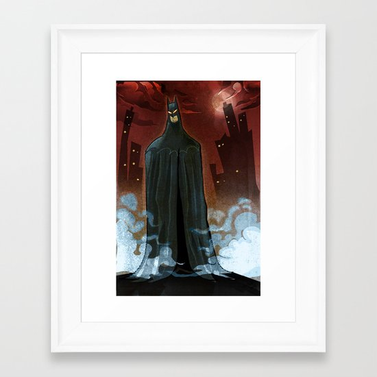 BTMAN Framed Art Print