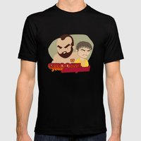 Trial by combat Mens Fitted Tee Black SMALL