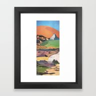 Framed Art Print featuring Peaks And Plateaus by Jesse Treece