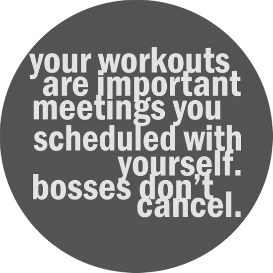 Your workouts are important meetings you scheduled with yourself.  Canvas Print