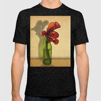 Calla lilies in bloom Mens Fitted Tee Tri-Black SMALL